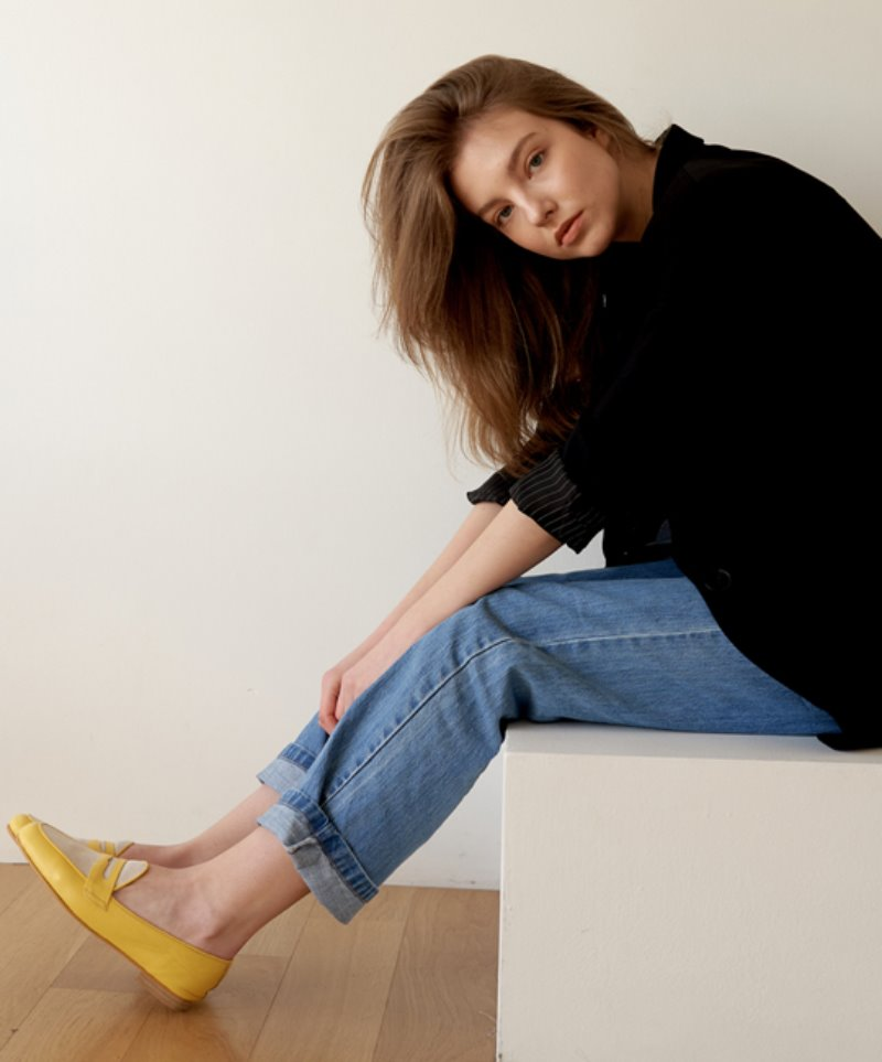 NO. Anne Penny Loafer_YELLOW