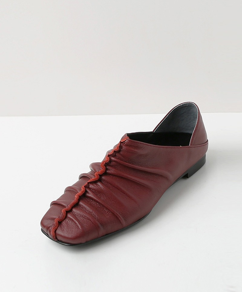 Jennet Shirring Flats_ WINE